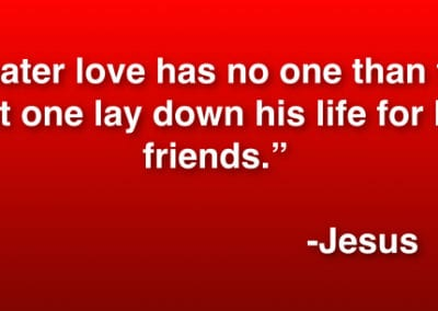 No Greater Love - Jesus