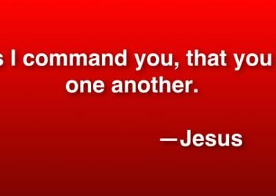 Jesus Command