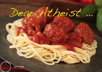 Dear Atheist – Flying Spaghetti Monster?