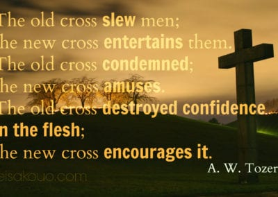 AW Tozer on the Cross